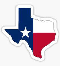 TEXAS, TEXAS FLAG, STATE OUTLINE, America, American, USA, US Sticker