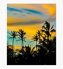 Tropical Scene at Sunset Time Photographic Print