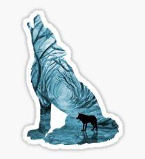 Wild Forest Wolf - Turquoise Sticker