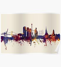 Gothenburg Sweden Skyline Poster