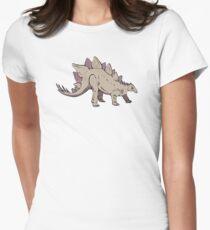 Stegosaurus dinosaur ancient Women's Fitted T-Shirt