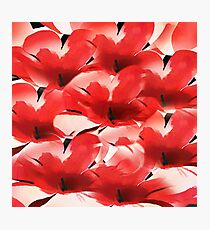 Red Poppies - Painterly Photographic Print