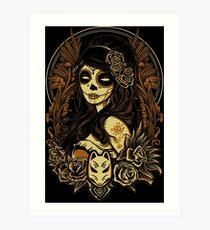 Night of the Kitsune Mask Art Print