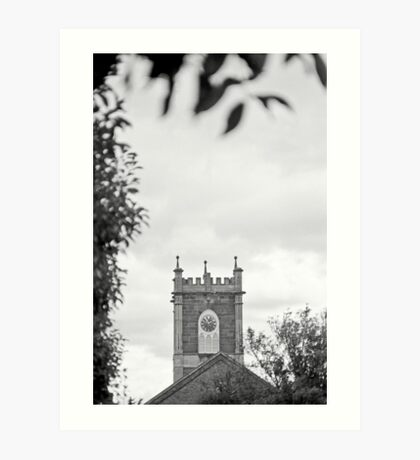 Clock Tower—St Johns Church, Newtown Tasmania Art Print
