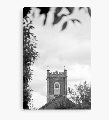 Clock Tower—St Johns Church, Newtown Tasmania Metal Print