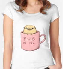 Pug of Tea Women's Fitted Scoop T-Shirt