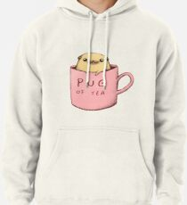 Sudadera con capucha Pug de té