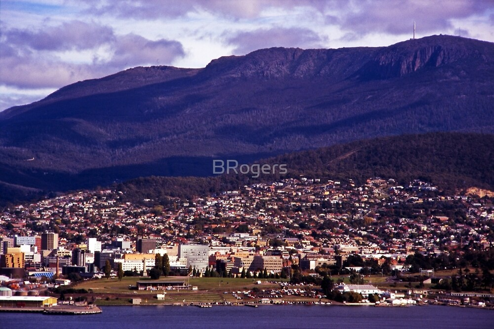 Rosny Hill—View to Hobart & Mt Wellington by BRogers