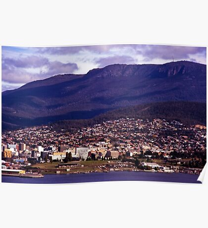Rosny Hill—View to Hobart & Mt Wellington Poster