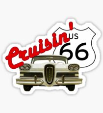 Cruisin' the Mother Road - US Route 66 Sticker