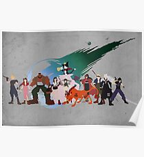Final Fantasy VII Characters Poster