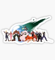 (NO BACKGROUND) Final Fantasy VII Characters Sticker