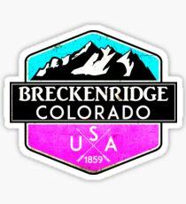 SKIING BRECKENRIDGE COLORADO MOUNTAINS SKI SNOWBOARD HIKING CLIMBING PINK Sticker