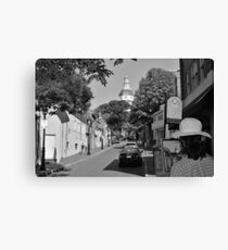 Painting the Street, MD Capital  Canvas Print
