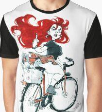 Badass girl on a bike Graphic T-Shirt