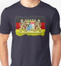 Bavaria coat of arms / flag carved in stone Unisex T-Shirt