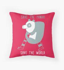 save the panda save the world! Throw Pillow