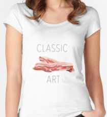 CLASSIC ART BACON !  Women's Fitted Scoop T-Shirt