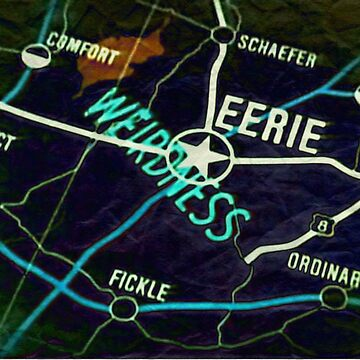 Eerie Indiana map in negative by froodle