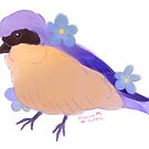 Cutie Pie Tanager by PrincessParrot