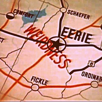 Eerie Indiana map in sepia by froodle