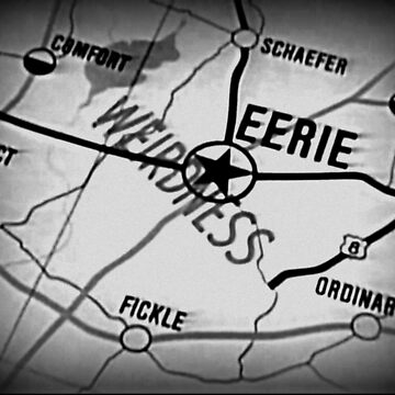 Eerie Indiana map in greyscale by froodle