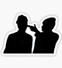 Guns For Hands Silhouette Sticker