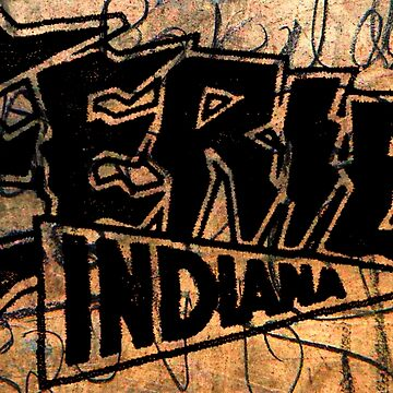 Eerie Indiana logo on wood by froodle