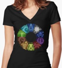 Grunge Guild Wheel Women's Fitted V-Neck T-Shirt
