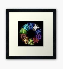 Grunge Guild Wheel Framed Print