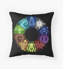 Grunge Guild Wheel Throw Pillow