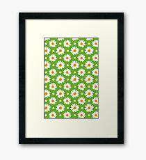 Daisies Pattern Framed Print