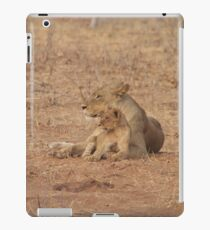 Lioness and Lion Cub Snuggle Together iPad Case/Skin