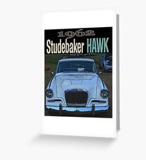 1963 Studebaker Hawk Greeting Card