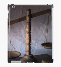 antique wooden balance scales iPad Case/Skin