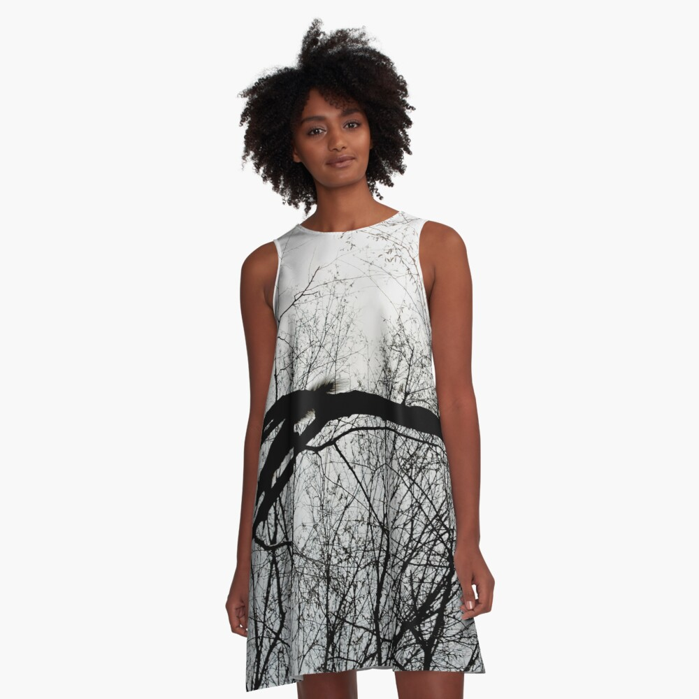 Squirrel in Central Park A-Line Dress Front