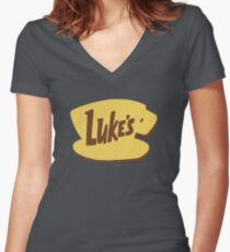 Luke's Diner Women's Fitted V-Neck T-Shirt