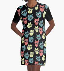 Cat Shirt Graphic T-Shirt Dress