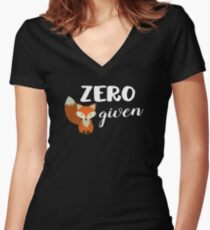 Zero Fox Given! Women's Fitted V-Neck T-Shirt