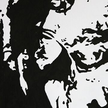 Abstract Woman in a Black Hat by chalk42002