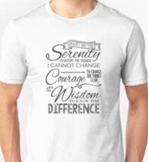 Serenity Prayer - Chalk Typography Unisex T-Shirt