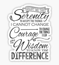 Serenity Prayer - Chalk Typography Sticker