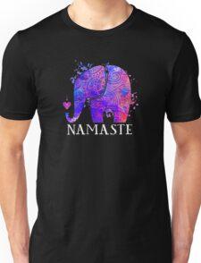 Namaste Elephant Peaceful Watercolor Unisex T-Shirt