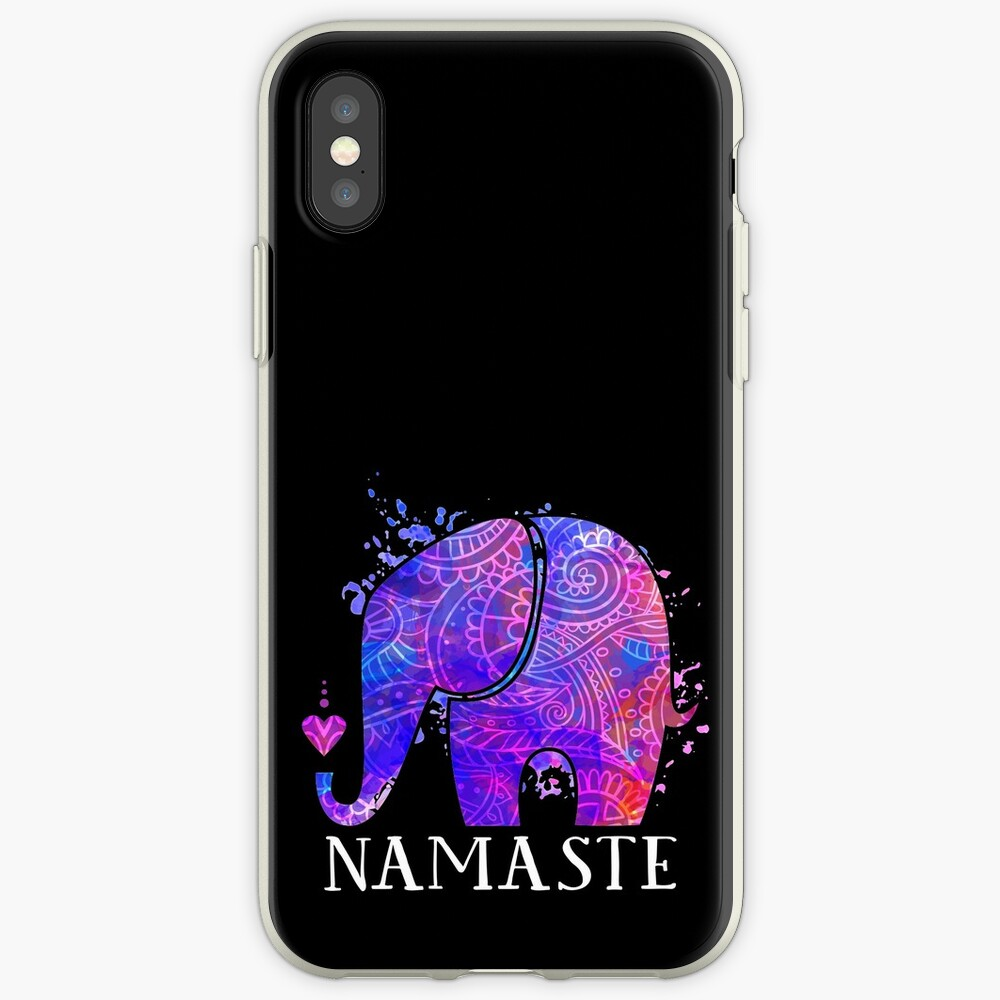 Namaste Elephant Peaceful Watercolor iPhone Cases & Covers