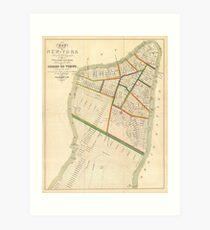 Lámina artística Vintage Map of New York City (1831)