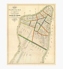 Lámina fotográfica Vintage Map of New York City (1831)