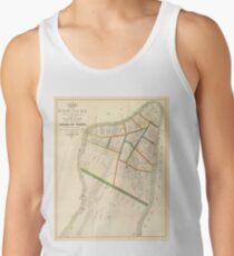 Camisetas de tirantes para hombre Vintage Map of New York City (1831)