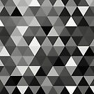 Black and white triangles by Printpix
