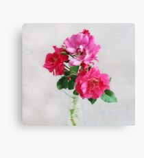 Three Old Fashioned Roses Canvas Print