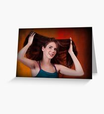 LONG BEAUTIFUL HAIR Greeting Card